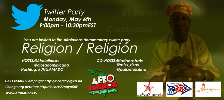 Afrolatinos Twitter Party ~ Religion / Religión