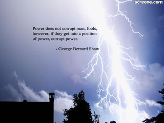 corrupt power